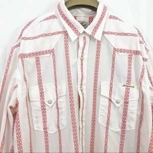 Lucky Brand Dobby Western Shirt Pearl Snap Buttons